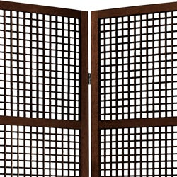 Miyagi Open Lattice 4 Panel Room Divider China Thumbnail 1