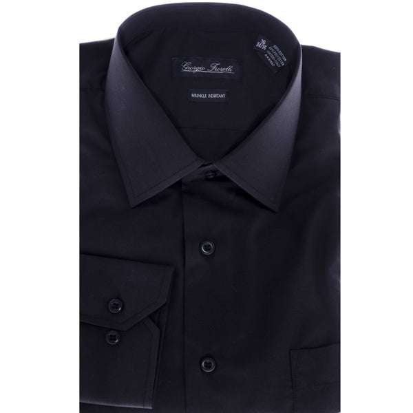 Mens Modern-Fit Dress Shirt Black