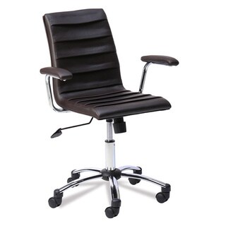 Favorite Finds Faux Leather Pleated Desk Chair