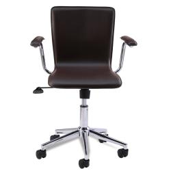 Favorite Finds Brown Steel Desk Chair - Thumbnail 1