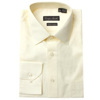 Men's Modern-Fit Dress Shirt, Beige