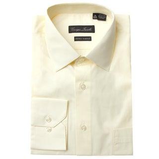Men's Modern-Fit Dress Shirt, Beige