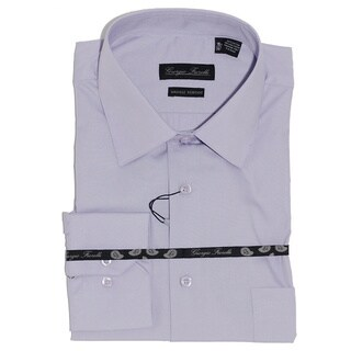 Men's Modern-Fit Dress Shirt, Lavender