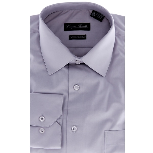 Mens Modern-Fit Dress Shirt Grey