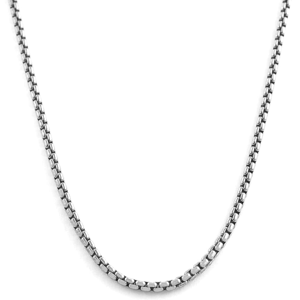 Fremada Rhodium plated Silver 1.1 mm Round Box Chain (20-inch)