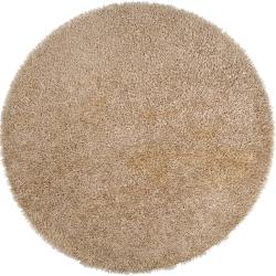 Hand-woven Gold Occidental Soft Shag (6' Round)