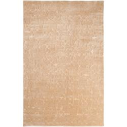 Hand Knotted Beige Brockton Abstract Design Wool Rug (4' x 6')