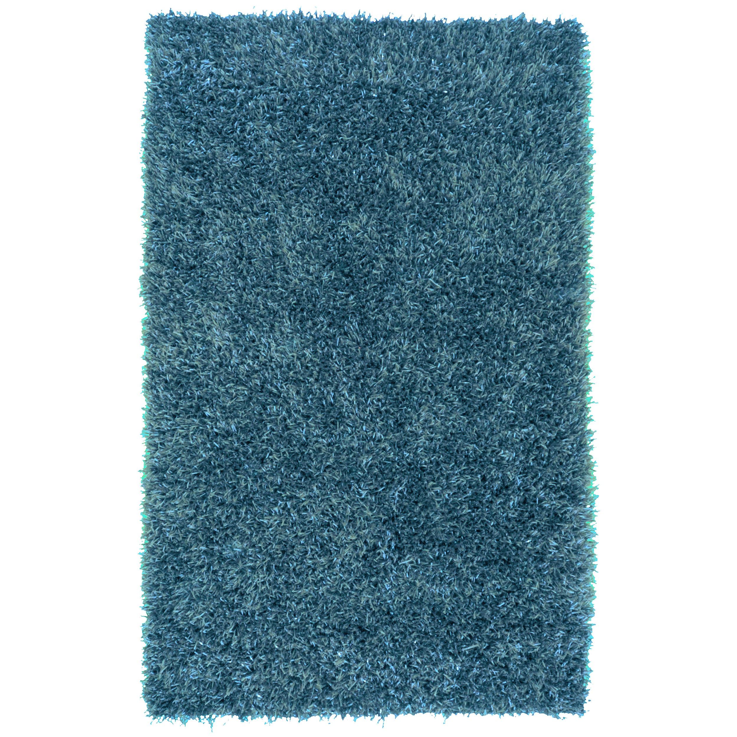Nice Hand Woven Teal Blue Milwaukee Soft Plush Shag Rug (8u0027 X ...
