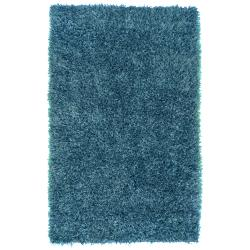 Hand-woven Teal Blue Milwaukee Soft Plush Shag Rug (8' x 10'6)