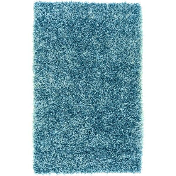 "Hand-woven Teal Blue Milwaukee Soft Plush Shag Area Rug - 8' x 10'6"""