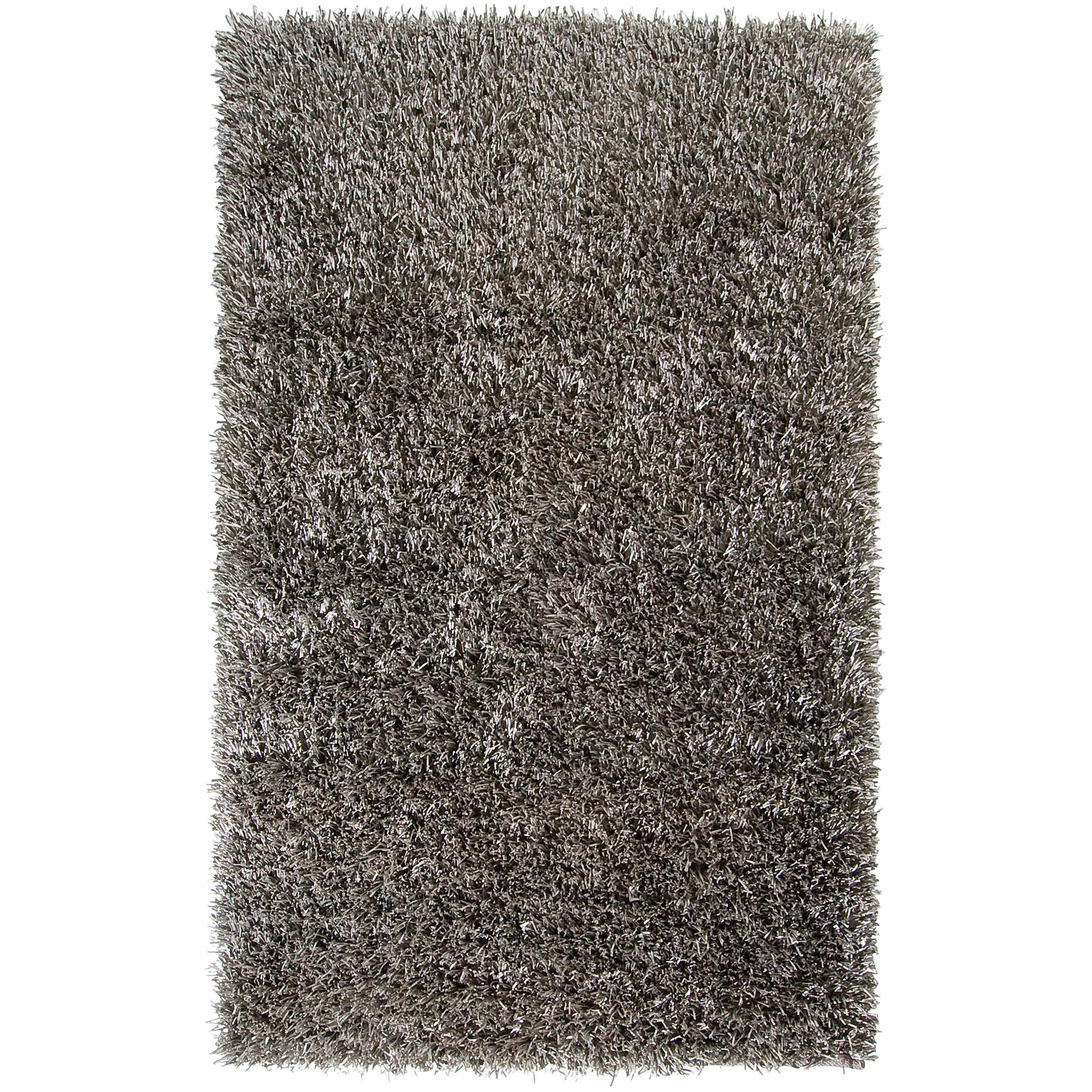 Hand-woven Silver Myers Soft Plush Shag Rug (5' x 8')