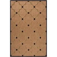 Woven Tan Bernardino Indoor/Outdoor Moroccan Lattice Area Rug (7'10 x 10'8)