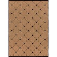 "Woven Tan Bernardino Indoor/Outdoor Moroccan Lattice Area Rug - 7'10"" x 10'8"""