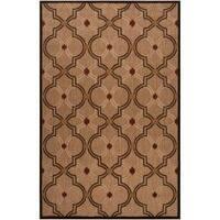 Woven Brown Jackson Indoor/Outdoor Moroccan Lattice Area Rug (7'10 x 10'8)