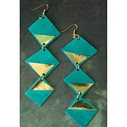 Vintage Royalty Goldplated 'Rachel' Paper Earrings