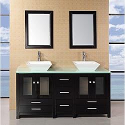 64 inch double sink bathroom vanity. Design Element Aden 61 inch Double Sink Bathroom Vanity Set 70 Inches Vanities  Cabinets For Less