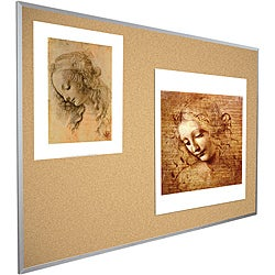 Best-Rite Valu-Tak 3 ft x 4 ft Aluminum Framed Natural Cork Tackboard