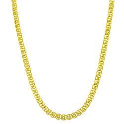 Fremada Gold over Silver 16-inch 4.2-mm Love Chain