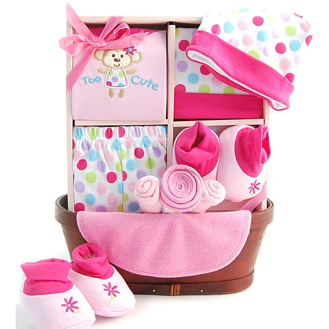 Baby Gift Baskets For Girl : Sweet baby girl gift basket free shipping on orders over