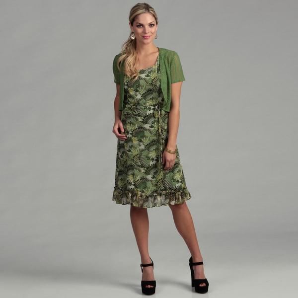 Sandra Darren Women's 2-piece Crochet Lace Dress