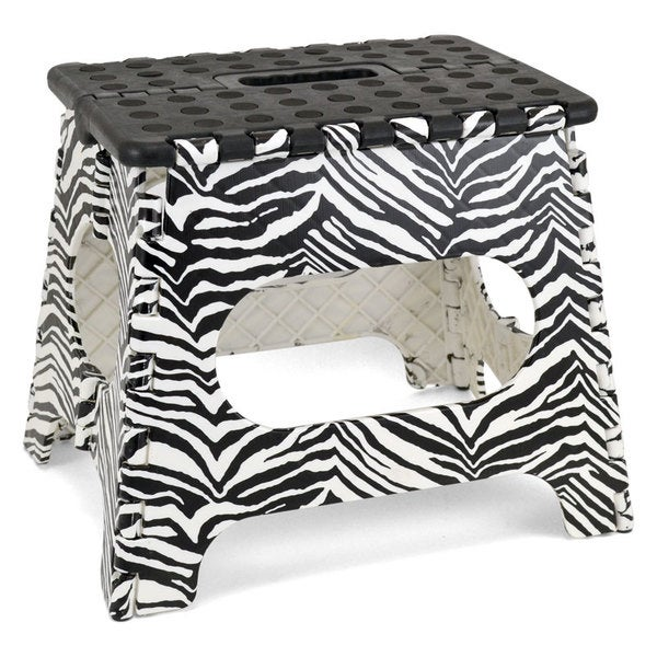 11 Inch High Zebra Folding Step Stool Free Shipping On
