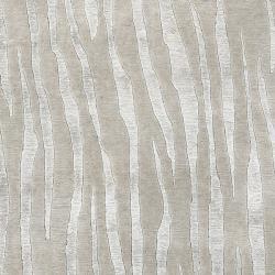 Hand Knotted Grey Abstract Plush Wool Cortina Rug (2' x 3') - Thumbnail 1