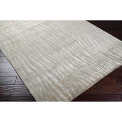 Hand Knotted Grey Abstract Plush Wool Cortina Rug (2' x 3') - Thumbnail 2