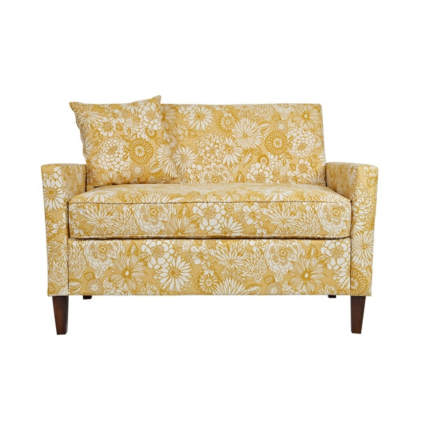 Handy Living Sutton Vintage Sun-washed Floral Tan Loveseat