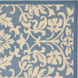 Safavieh Seaview Blue/ Natural Indoor/ Outdoor Rug (7'10 Square)