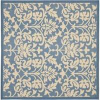 Safavieh Seaview Blue/ Natural Indoor/ Outdoor Rug - 7'10