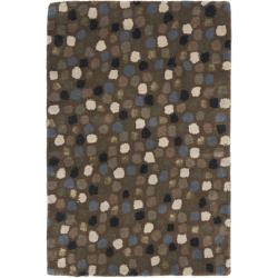 Safavieh Handmade Sprinkles Dark Grey New Zealand Wool Rug (2' x 3')