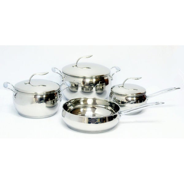 Gourmet Chef 7-piece Stainless Steel Cookware Set