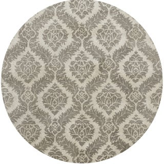 Hand-tufted Averlo Grey Rug (8' x 8' Round) - 8' x 8'