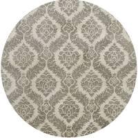 Hand-tufted Averlo Grey Rug (8' x 8' Round)