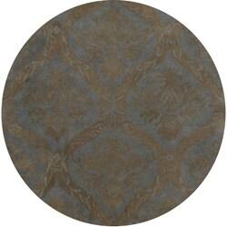 Hand-tufted Averlo Light Grey Rug (8' x 8' Round)