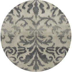 Hand-tufted Averlo Light Gray Rug (8' x 8' Round)