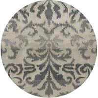 Hand-tufted Averlo Light Gray Rug (8' x 8' Round) - 8' x 8'