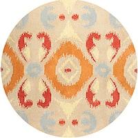Hand-tufted Averlo OrangeRug (8' x 8' Round) - 8' x 8'