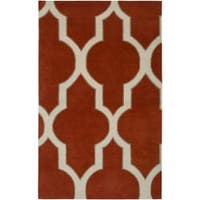 Hand-tufted Averlo Rust Rug - 8' x 8'