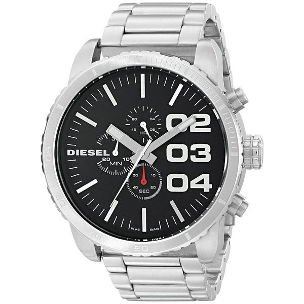 Diesel Men's DZ4209 'Double Down' Chronograph Stainless Steel Watch