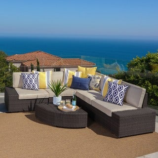 Santa Cruz Outdoor 6-piece Wicker Sofa Set by Christopher Knight Home