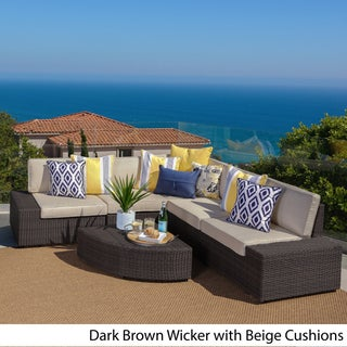 Santa Cruz Outdoor 6-piece Wicker Sofa Set by Christopher Knight Home (3 options available)