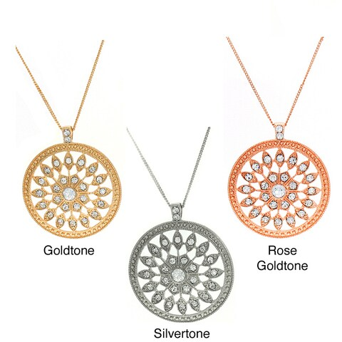 Simon Frank Clear Rhinestone Swivel Fashion Necklace