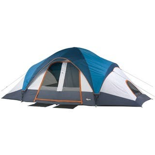 Mountain Trails Grand Pass 9-person 2-room Family Dome Tent|https://ak1.ostkcdn.com/images/products/6487246/P14079261.jpg?impolicy=medium
