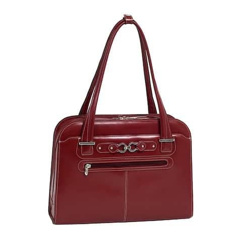 "McKleinUSA 15.4"" Leather Fly-Through Checkpoint-Friendly Ladies' Laptop Briefcase"