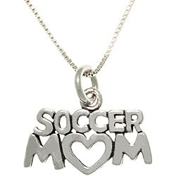 Carolina Glamour Collection Sterling Silver Soccer Mom Talking Necklace