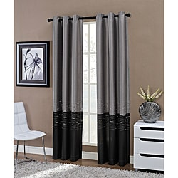 Horizon Embroidered Grommet 63-inch Window Curtain Panel - 50 x 63