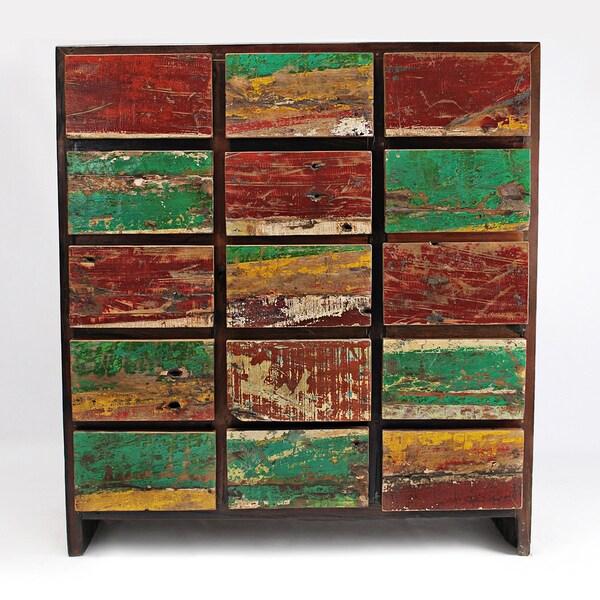 Ecological Furniture Reclaimed Mahogany Nautical 15-drawer Dresser (USA)