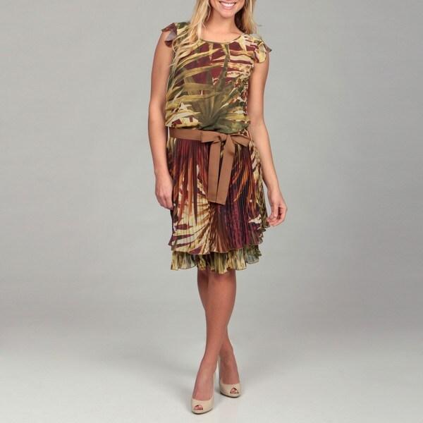 c75b5d817d2 Shop Women s Tropical Print Chiffon Dress - Free Shipping Today ...