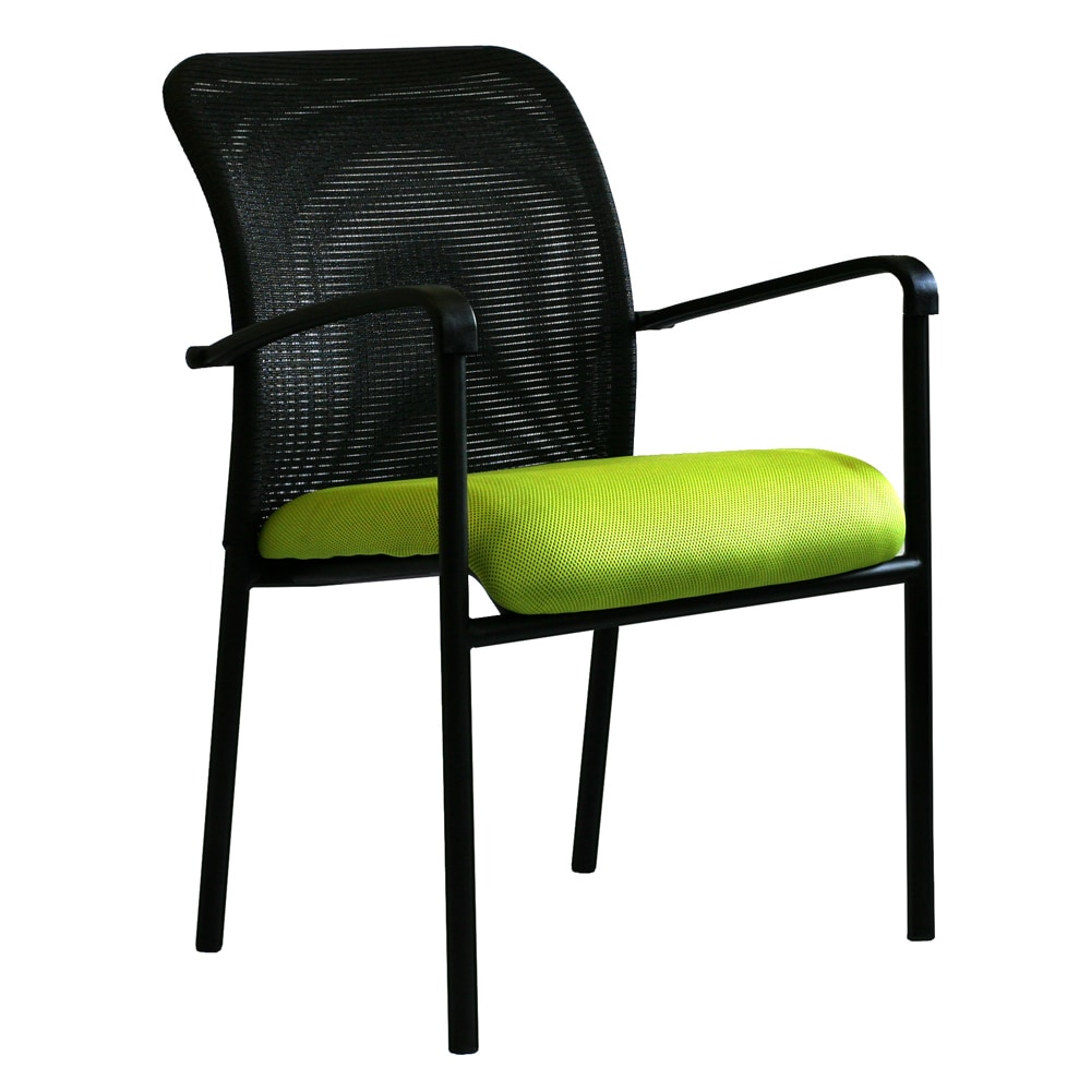 green/black steel office guest chair - free shipping today